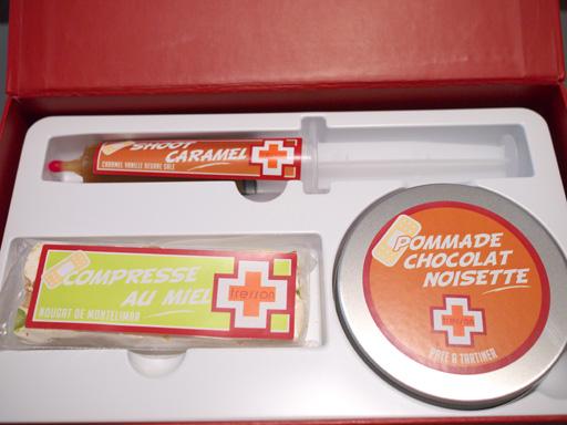 スイーツ救急箱の上段