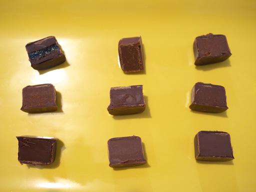 ボンボンショコラ9種類切ってみた
