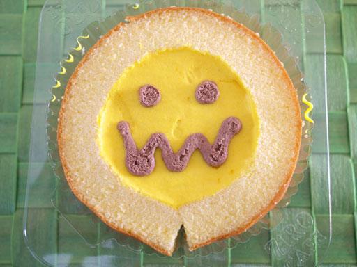 ハロウィンパンプキンケーキ(201010@セブンイレブン)開けてもかわいい