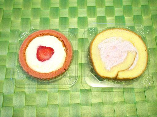 ストロベリーロールケーキ(201101@セブンイレブン)あまおうロールと比較2