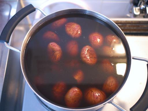 渋皮煮からモンブランを懲りずに作ってみた(201110)今年は三温糖と黒糖で煮る