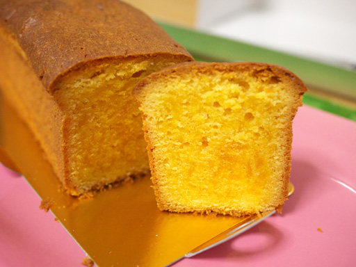 手作りバターの焼きたてパウンドケーキ