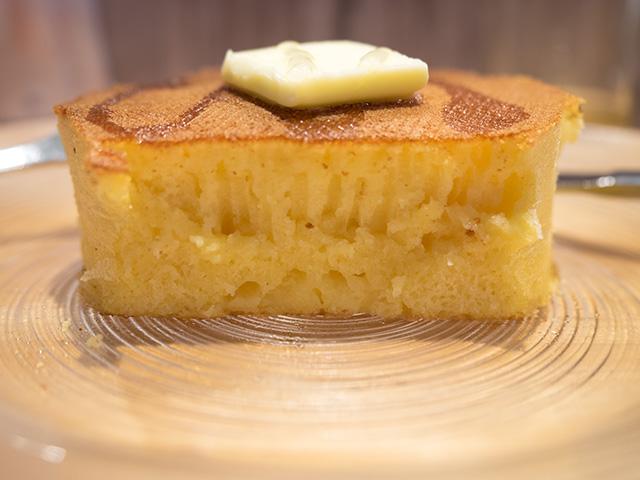 発酵バターのパンケーキ(20140604@雪ノ下)断面も綺麗
