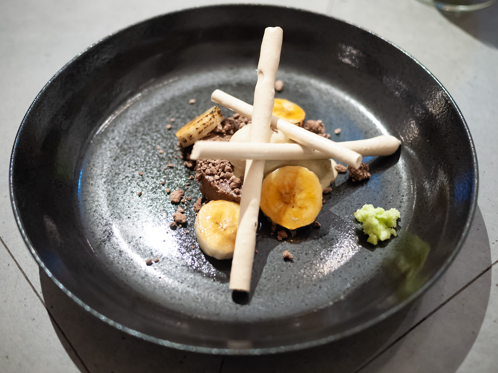 山葵、黒糖、バナナ、ほうじ茶、チョコレート